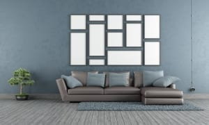 bluish gray living room