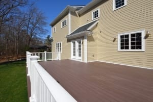 brown painted deck
