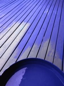 painted blue deck