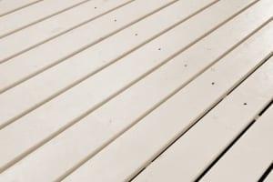 beige painted deck