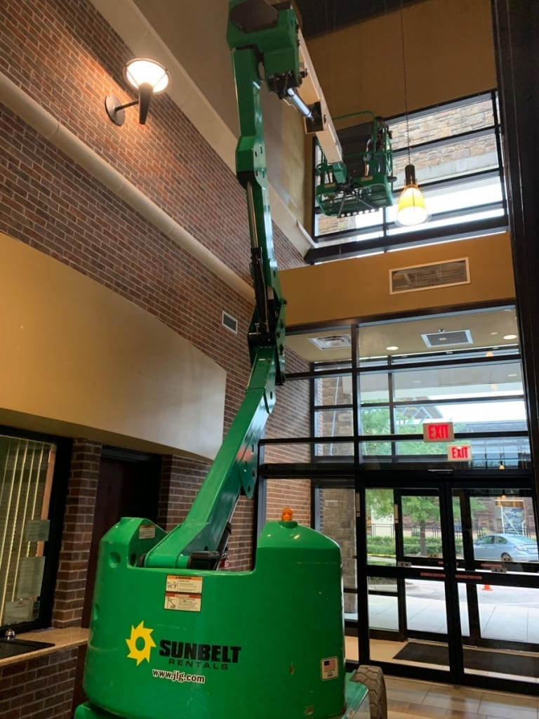 Bee Cave Boom Lift - Interior Commercial Painting