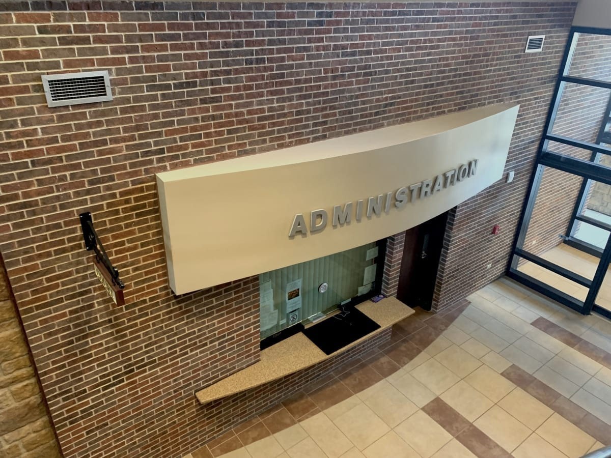 Administration Window - Interior Commercial Painting