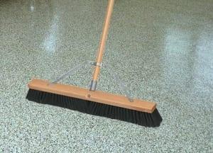 Sweeping epoxy floor