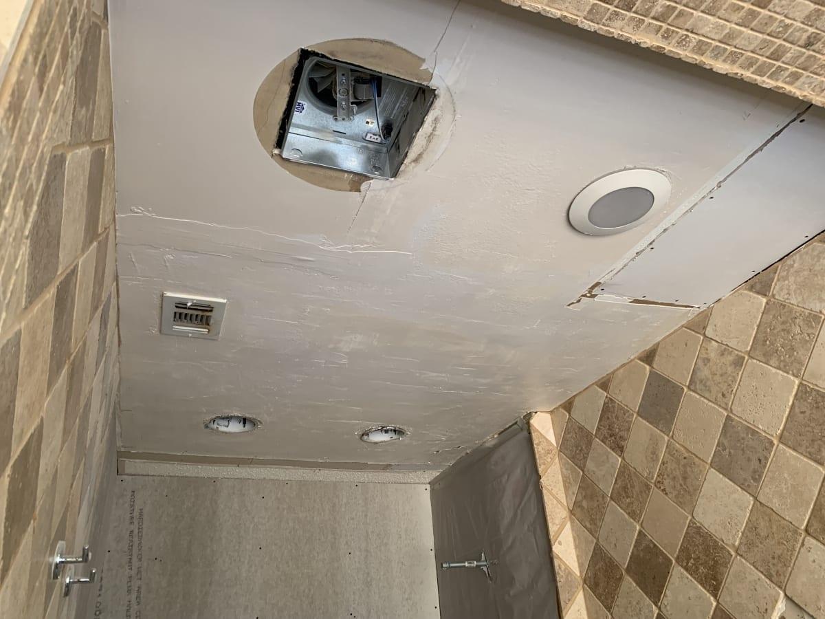 Bathroom ceiling repairs