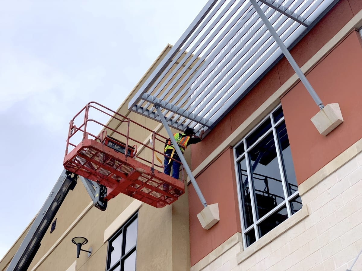 Painting exterior decorative metalwork