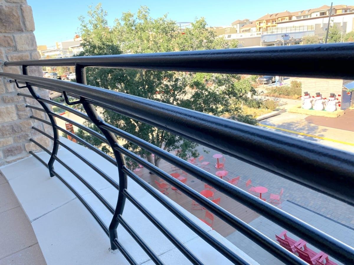 painted metal railings
