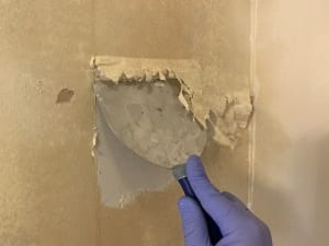 sheetrock knife to remove wallpaper
