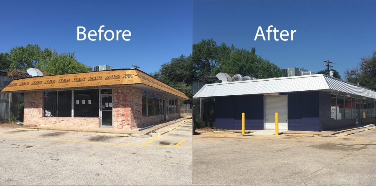 commercial laundry remodel before and after