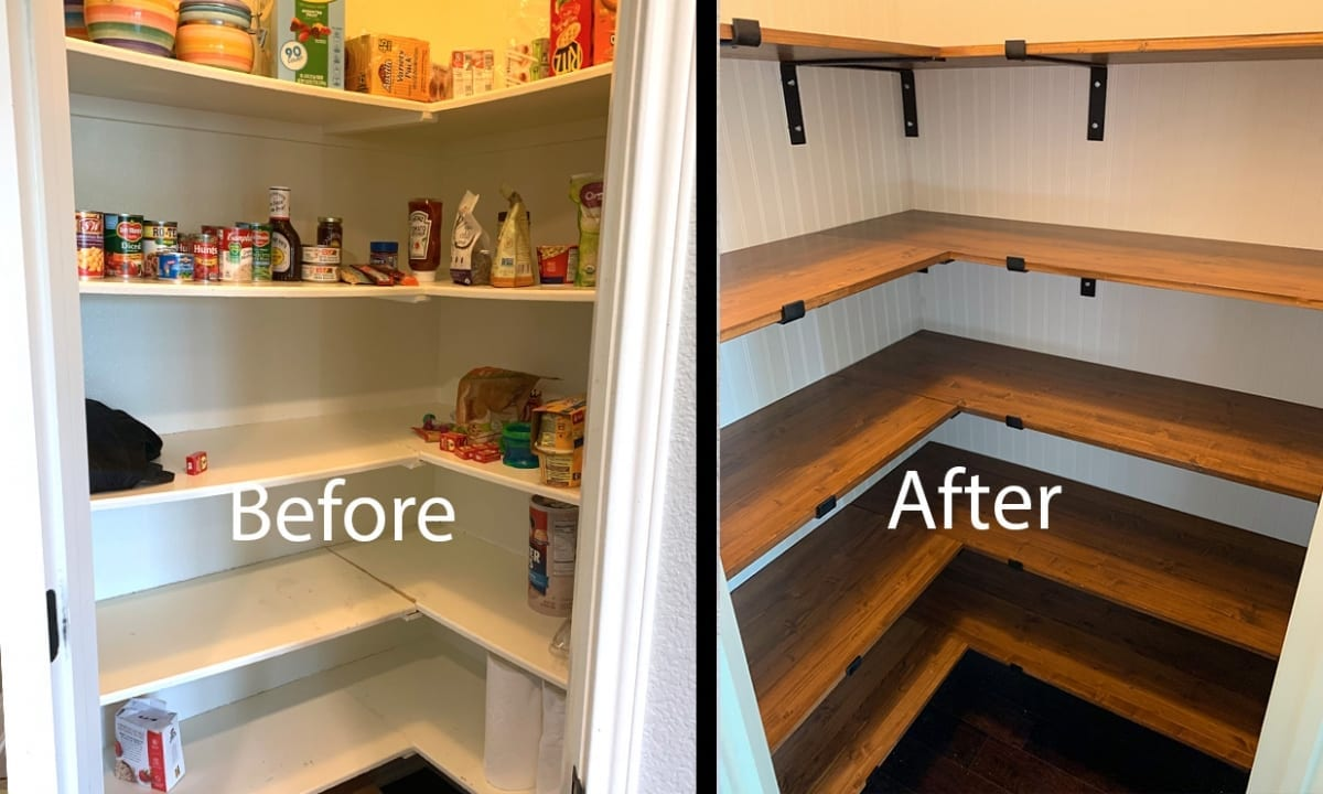 farmhouse kitchen pantry remodel before and after
