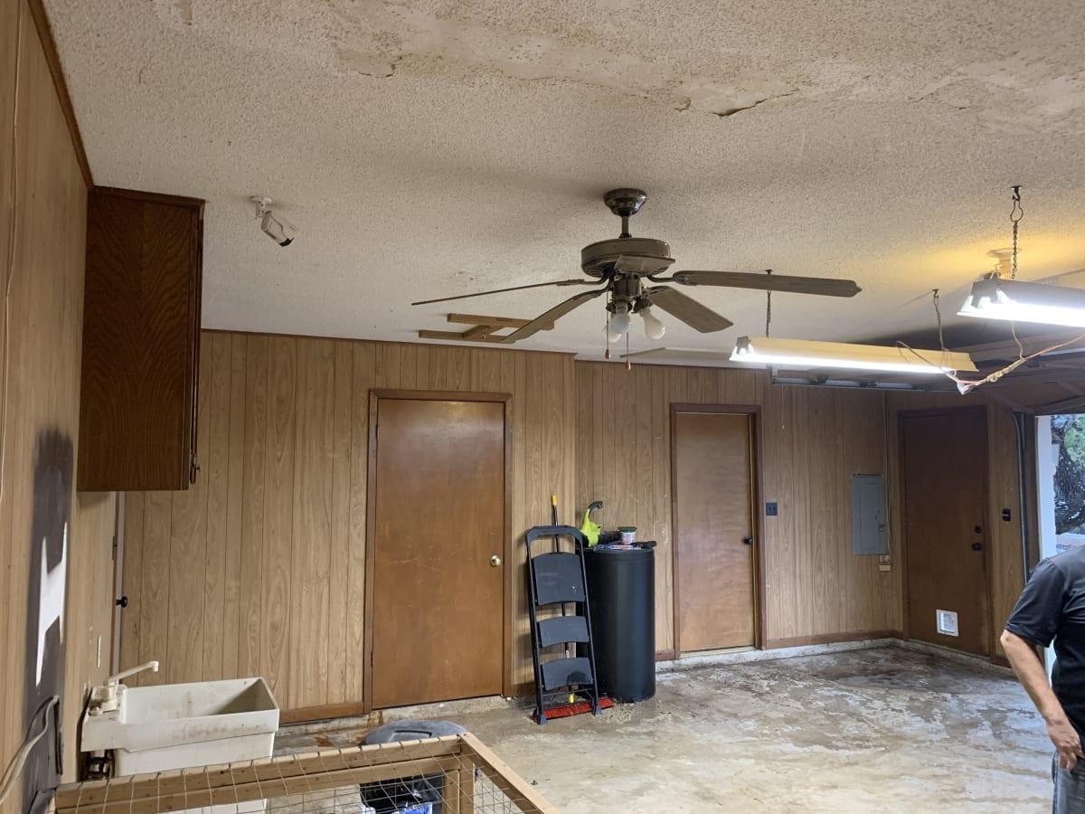 garage looking in - before