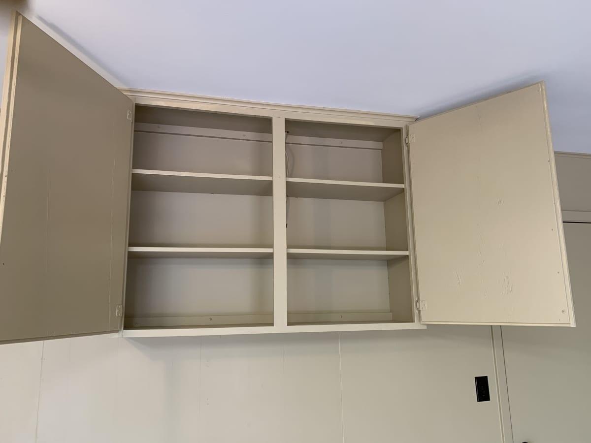 garage sprayed cabinets - after
