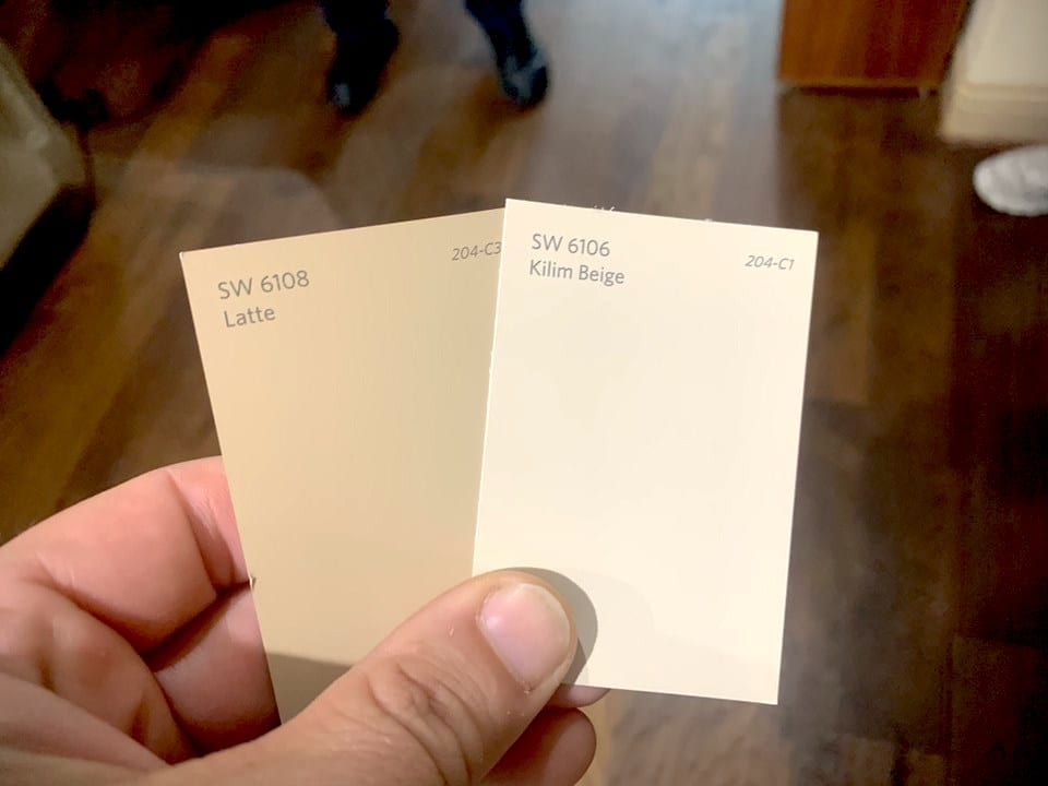beige color sample from sherwin williams