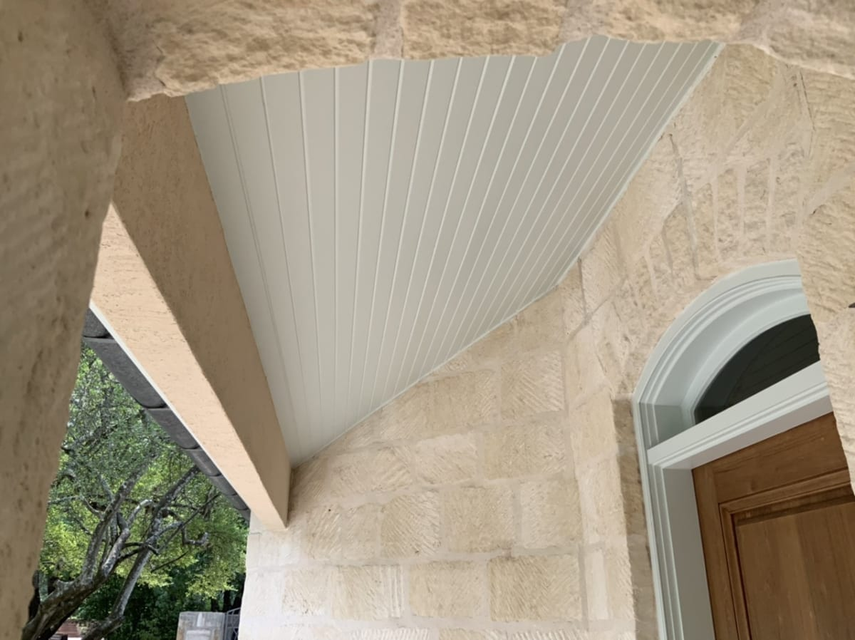 painted beadboard porch ceiling