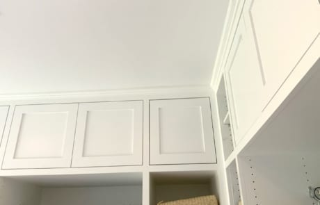 painted closet cabinets - white