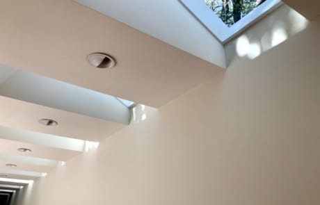 sheetrock neutral painted walls and skylights