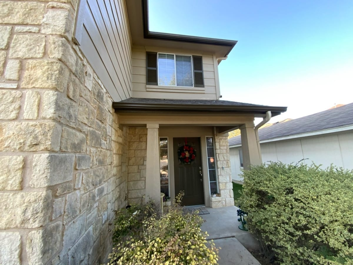 siding and stone - entryway