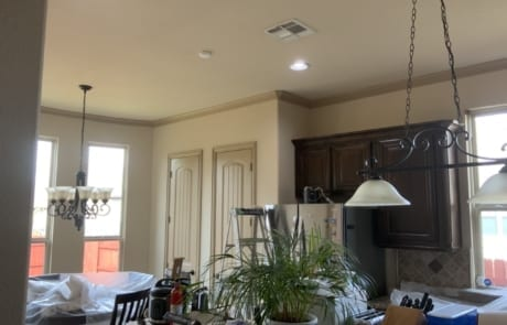 tan kitchen walls and ceilings