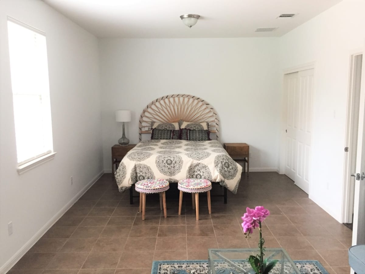 white interior painting - master bedroom